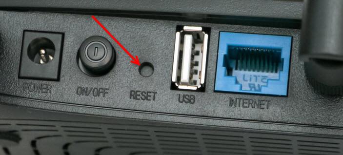 Очистка параметров наTP-Link TL-WR2543ND