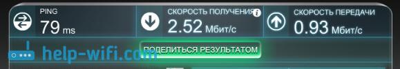 Скорость интернета после установки антенны