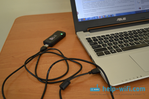Для лучшего сигнала подключаем модем через USB удлинитель
