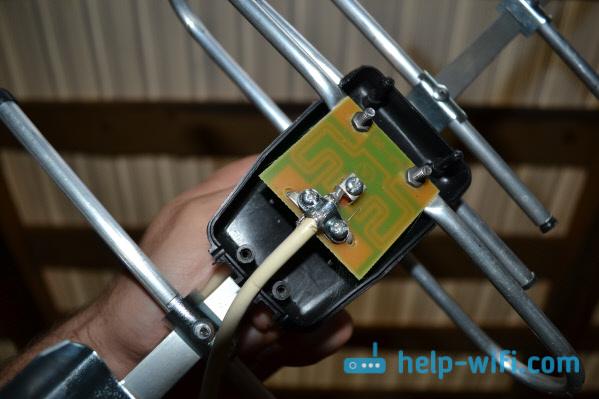 Подключаем кабель к 3G антенне