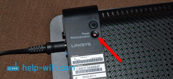 Сброс настроек на Linksys E1200