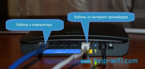 ПодключениеLinksys E1200 к компьютеру по LAN кабелю