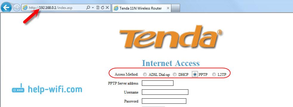 Настройка WAN-соединения на Tenda