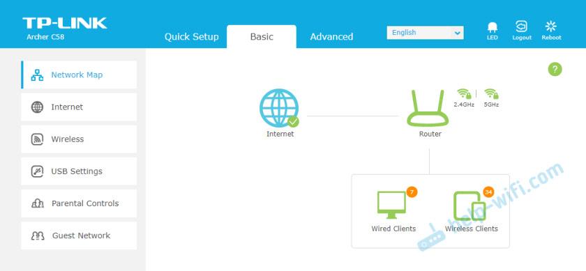 Новая страница с настройками роутера TP-Link