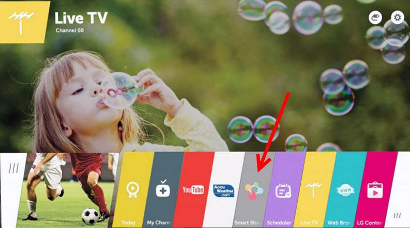 Smart Share на телевизорах с Web OS