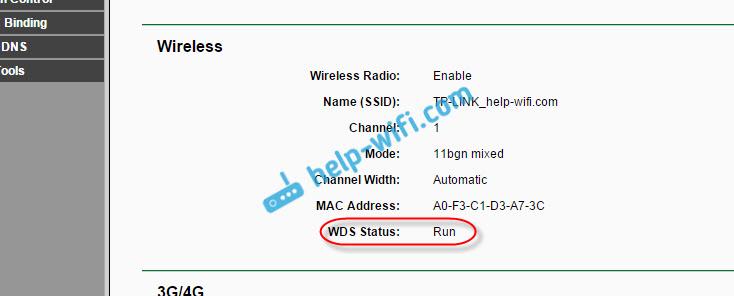 WDS Status - Run