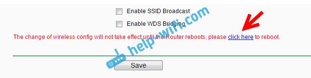 Перезагрузка Tp-Link после скрытия SSID