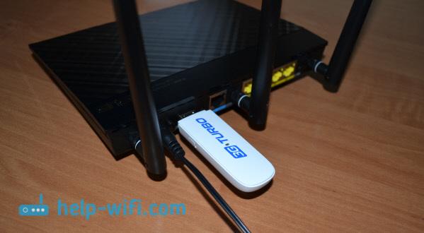 Фото: подключение 3G USB-модема к роутеру Asus