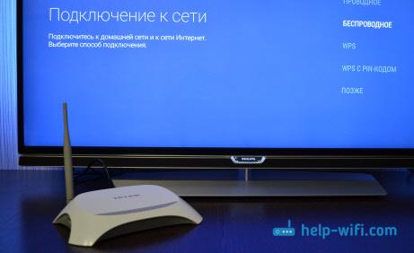 Фото: подключение телевизора Philips к интернету по сетевому кабелю
