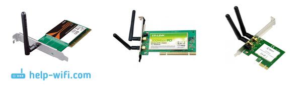 Фото: внутренние PCI адаптеры для подключения к Wi-Fi