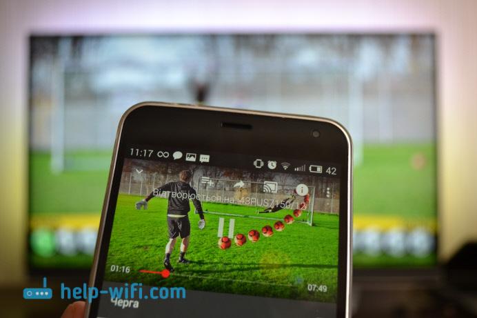 Трансляция видео сAndroid смартфона на телевизор поGoogle Cast