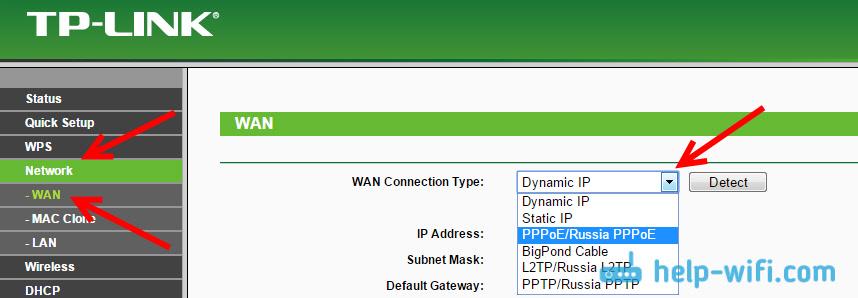 Настройка WAN на роутере Tp-Link