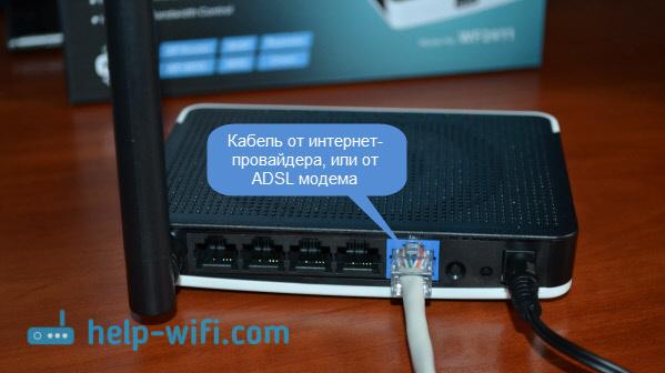 Подключение роутера Netis WF2411 к интернету