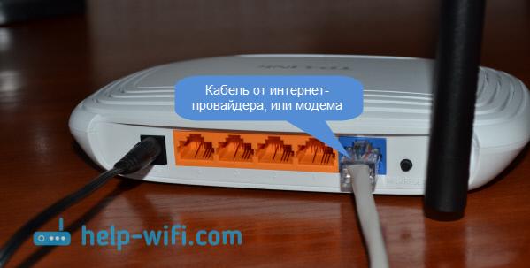 TP-Link TL-WR740N: подключение к интернету