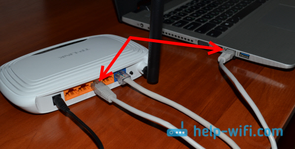 Подключение компьютера по кабелю к TL-WR740N