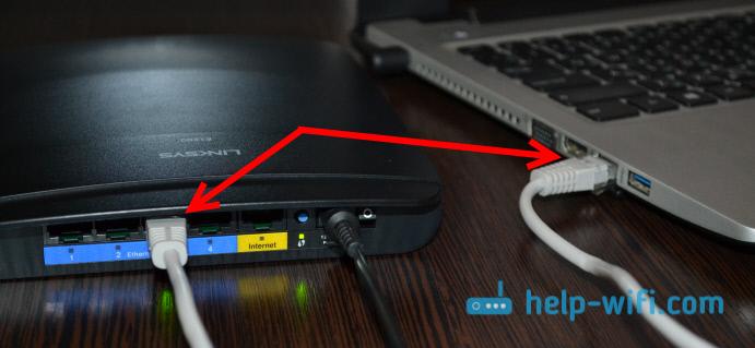 Подключение роутера Linksys к компьютеру для смены пароля