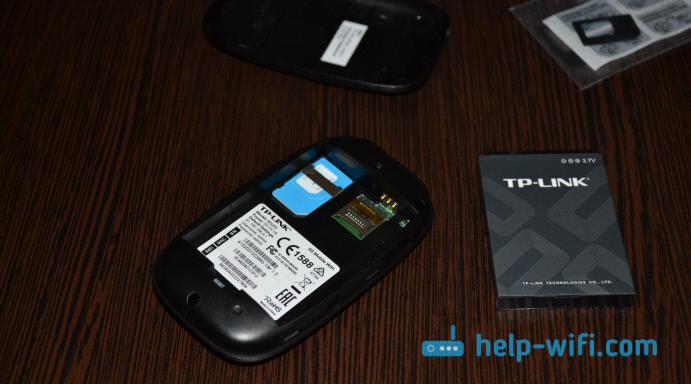 Установка SIM-карты в TP-LINK M5250
