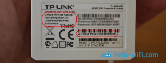 Заводские параметры адаптера TL-WPA4220