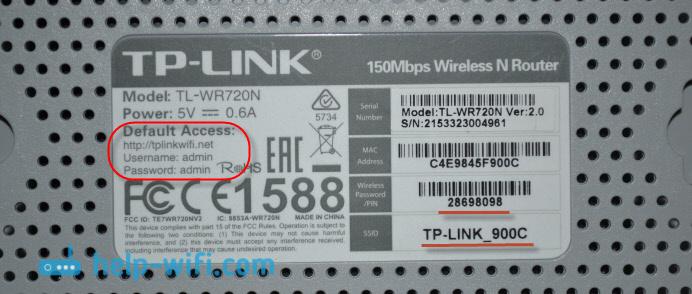 TP-LINK TL-WR720N: адрес для входа в настройки и заводские параметры