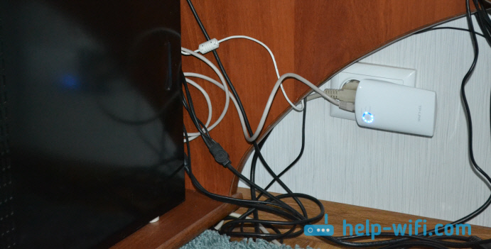 Подключение устройств по LAN кабелю к репитеру