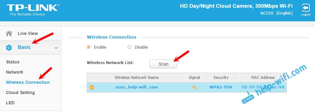 Подключение IP-камеры к маршрутизатору по Wi-Fi