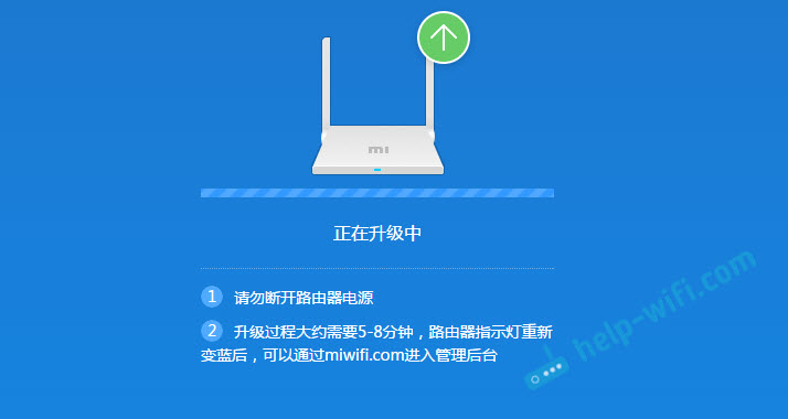 Процесс обновления ПО на роутере Xiaomi mini
