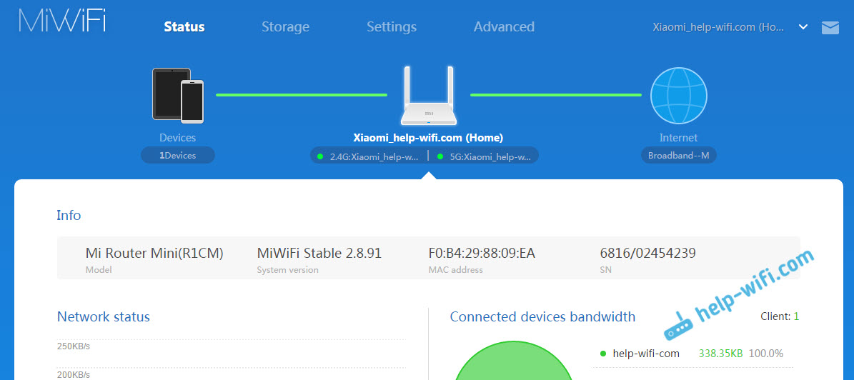 Xiaomi mini WiFi: настройки на английском языке