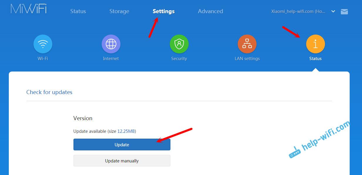 Автоматическое обновление прошивки на Xiaomi mini WiFi