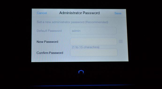 Смена пароля admin на Touch P5