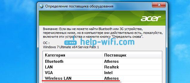 Как определить производителя Wi-Fi адаптера на ноутбуке ASUS