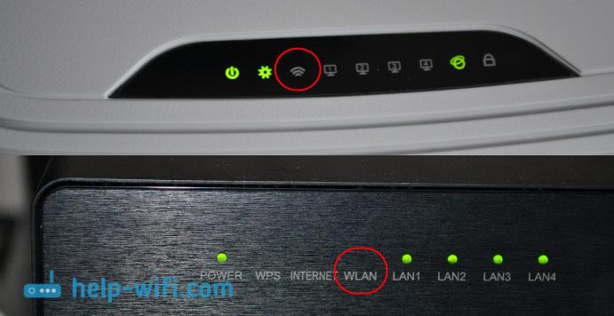 Не горит лампочкаWLAN (Wi-Fi) на роутере