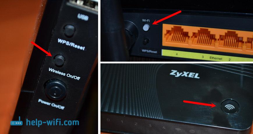 Кнопка для отключения Wi-Fi на роутере. Когда не горит лампочка WLAN