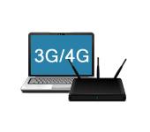 3G/4G модем + ноутбук + роутер