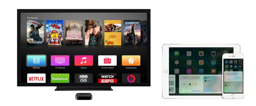 Трансляция изображения с iPhone на телевизор через Apple TV