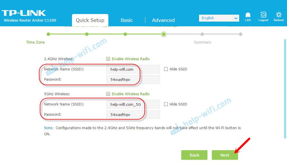 Настройка Wi-Fi и пароля на роутере TP-Link Archer C1200