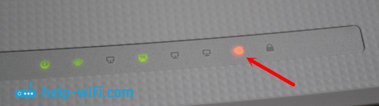 Оранжевый индикатор интернета на TP-Link TL-WR845N