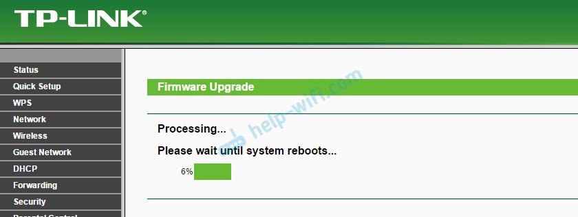 Статус обновления программного обеспечения