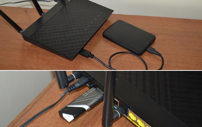 USB-порт на роутере для жестких дисков и флешек
