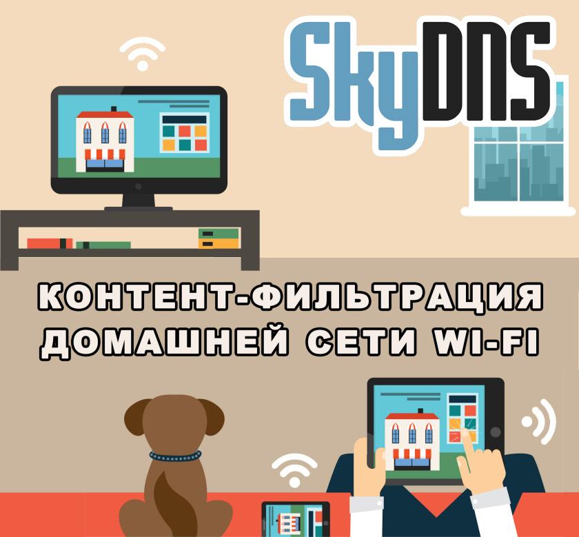 Фильтрация SkyDNS для домашней Wi-Fi сети