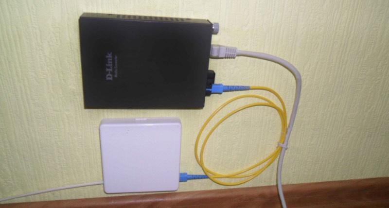 Схема подключения интернета по оптоволокну