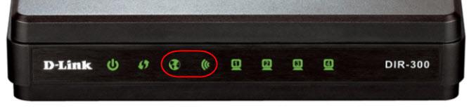 D-Link DIR-300: не горит индикатор интернета и Wi-Fi