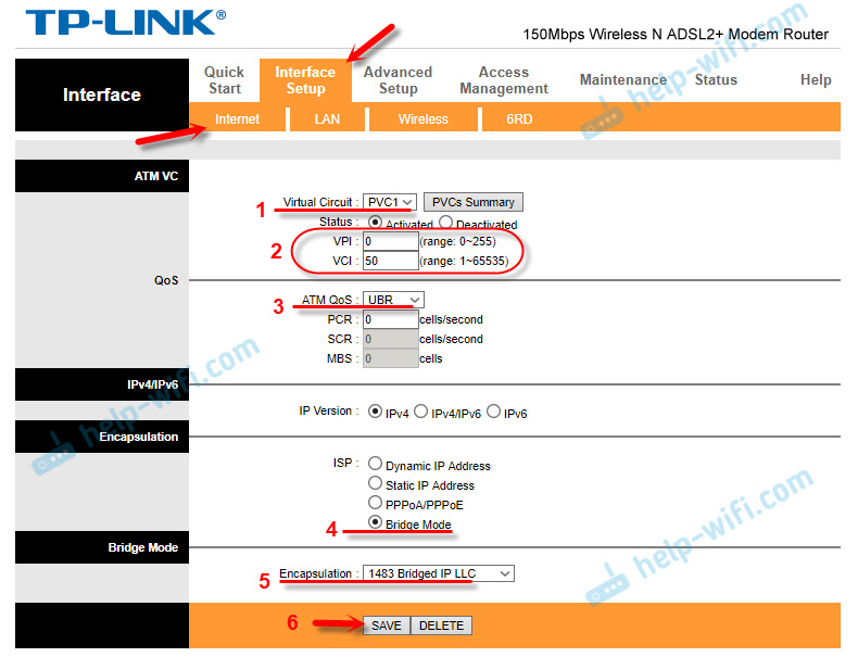 IPTV на TD-W8951ND