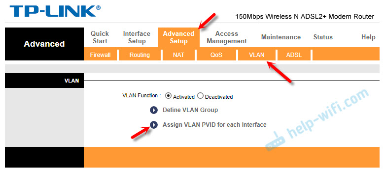Assign VLAN PVID for each Interface