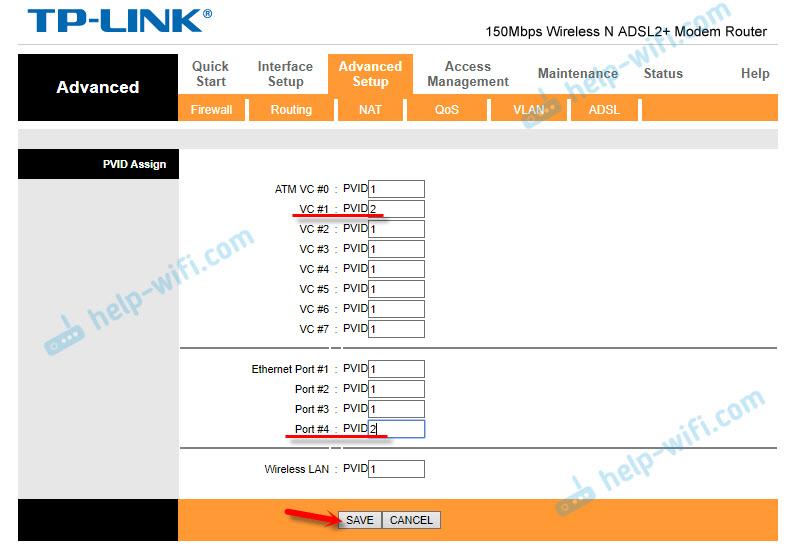 Настройка LAN порта для IPTV приставки