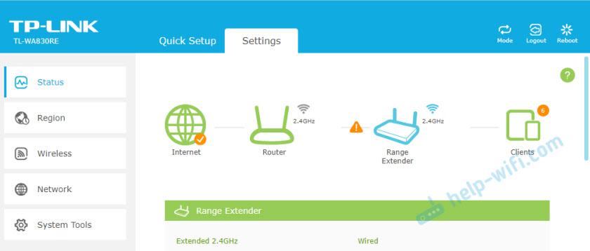 Новый веб-интерфейс репитеров TP-Link