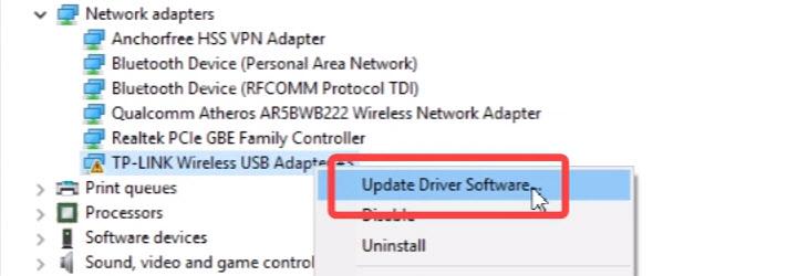 Обновление драйверов Wi-Fi адаптера TL-WN722N