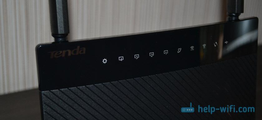 Индикаторы маршрутизатораTenda AC9