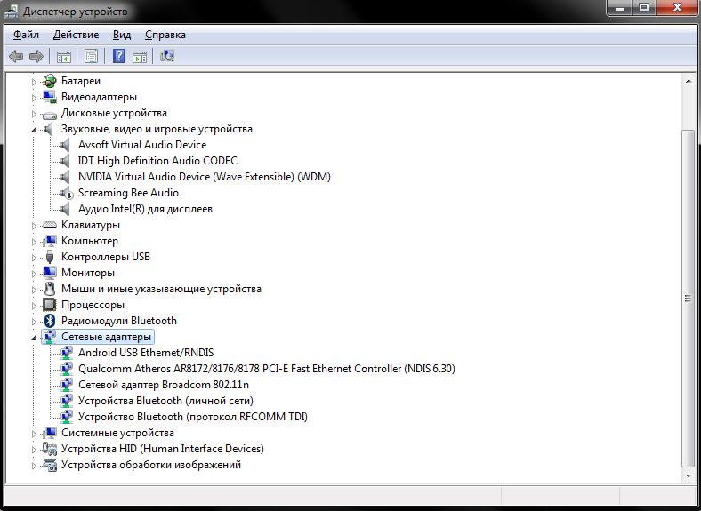 Сетевые адаптеры ноутбука Lenovo G700