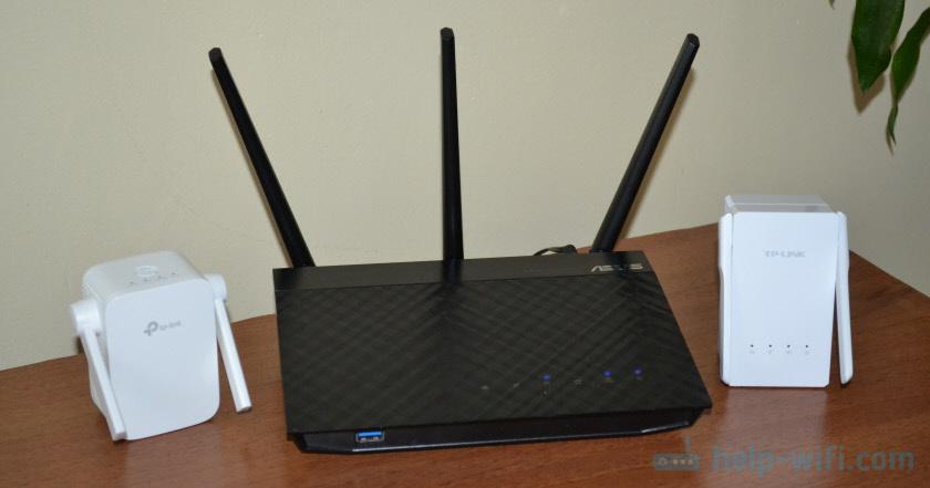 Установка нескольких усилителей Wi-Fi сети