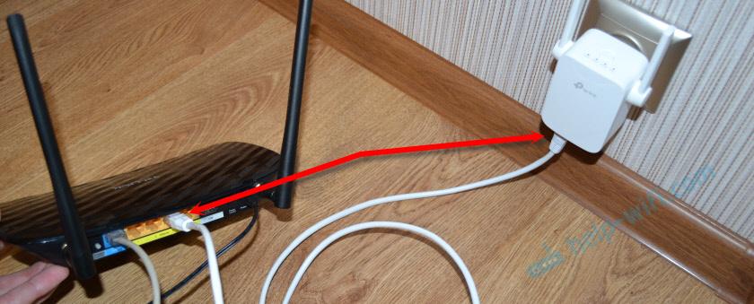 Подключение Wi-Fi репитера TP-Link к роутеру
